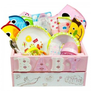 Cesta Ñam Ñam Caja Niña  Canastillas para bebes - La Cesta Mágica