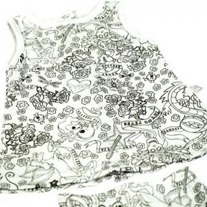 Vestido con Ranita Tattoo  Ropa Bebé - La Cesta Mágica