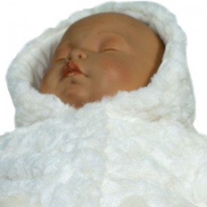 Abrigo Crema con Capucha  Ropa Bebé - La Cesta Mágica