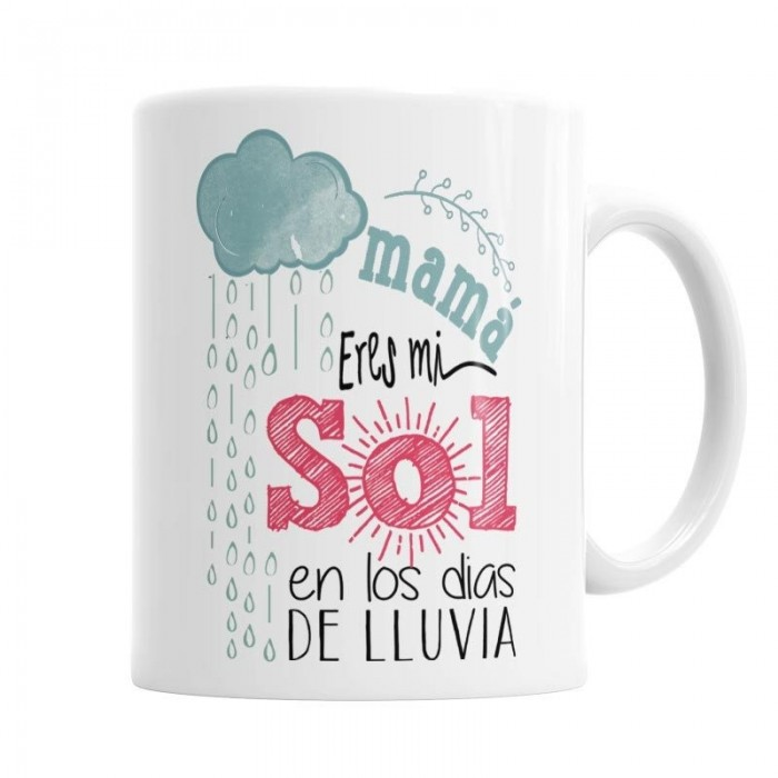 Taza Mama eres mi Sol