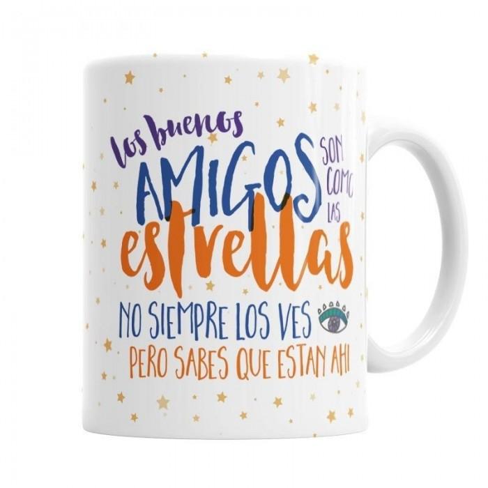 Taza para los Buenos Amigos  Tazas Originales - La Cesta Mágica