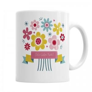 Taza Flores para Mamá  Tazas Originales - La Cesta Mágica