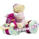 Triciclo de Pañales Rosa