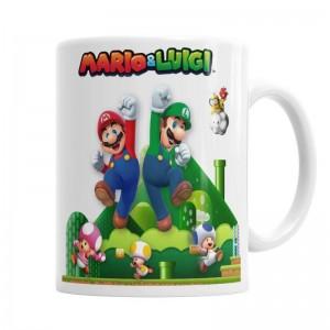 Taza Mario & Luigi  Tazas Originales - La Cesta Mágica