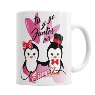 Taza amor Pinguino para Él