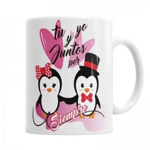 Tazas Amor Pinguino - Pack  Tazas Originales - La Cesta Mágica