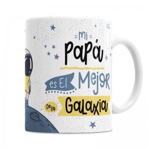 Taza Mejor Papá de la Galaxia  Tazas Originales - La Cesta Mágica