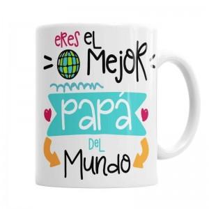 Taza Papá eres el mejor del Mundo  Tazas - La Cesta Mágica