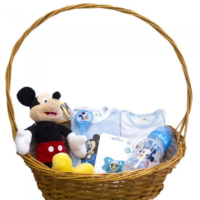 Canastilla para bebé Caramelo Mickey  Canastillas para bebes - La Cesta Mágica