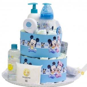Tarta de Pañales Disney Azul