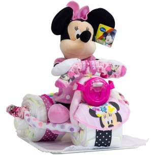 Tarta de Pañales Triciclo Disney Minnie