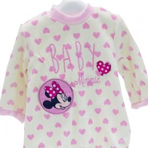 Pelele Tundosado Disney Minnie Rosa  Ropa Bebé - La Cesta Mágica