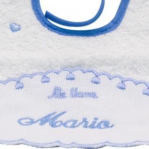 Babero con nombre bordado Pack 2 Unid.  Alimentacion y Lactancia - La Cesta Mágica