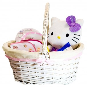 Cesta Bebé Hello Kitty