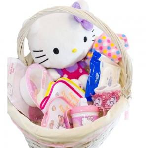Cesta Bebé Hello Kitty  Canastillas para bebes - La Cesta Mágica