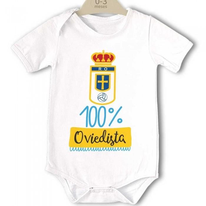 Body para Bebé, Real Oviedo - 100% Oviedista  bodys - La Cesta Mágica