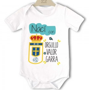 Body para Bebé, Real Oviedo - Nacido con Orgullo  bodys - La Cesta Mágica