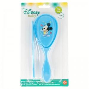 Set Cepillo y Peine Mickey Disney  Para el Baño - La Cesta Mágica