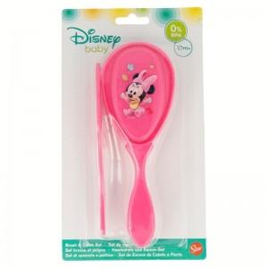 Set Cepillo y Peine Minnie Disney  Para el Baño - La Cesta Mágica