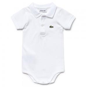 Body para bebé con cuello LACOSTE  Ropa Bebé - La Cesta Mágica
