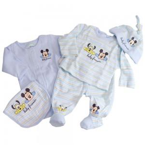 Conjunto nacimiento Bebe Mickey - 5 Pcs.  Ropa Bebé - La Cesta Mágica