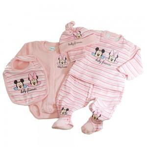 Conjunto nacimiento Bebe Minnie - 5 Pcs.  Ropa Bebé - La Cesta Mágica
