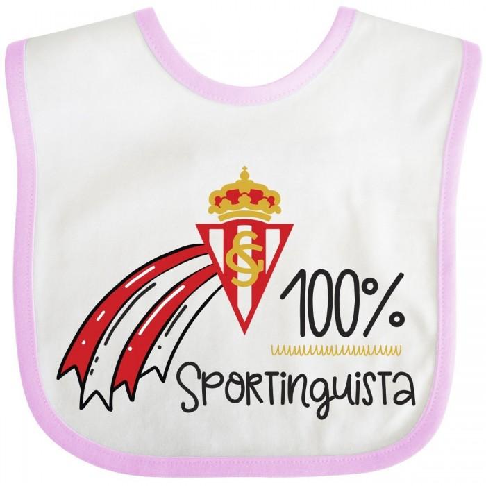 Babero Sporting de Gijón para bebé-rosa  baberos - La Cesta Mágica