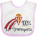 Babero Sporting de Gijón para bebé