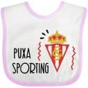 Babero Puxa Sporting de Gijón para bebé