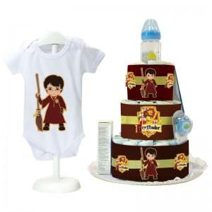 Tarta de Pañales Harry Potter - Principe  Tartas de Pañales - La Cesta Mágica