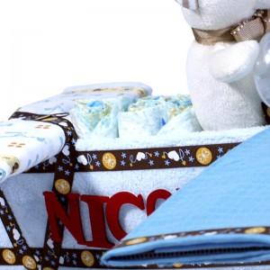 Tarta de Pañales Avión niño  Tartas de Pañales - La Cesta Mágica