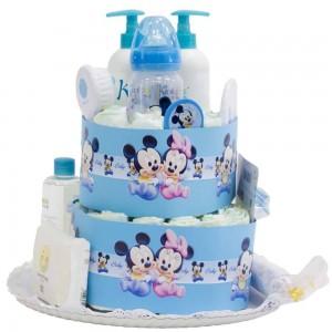 Tarta de Pañales al baño Disney Rosa  Tartas de Pañales - La Cesta Mágica