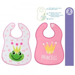 Pack de 2 baberos Princesa 3 capas  Alimentacion y Lactancia - La Cesta Mágica