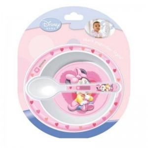 Cuenco con Cuchara Minnie Disney  Accesorios bebé - La Cesta Mágica