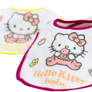 Pack 3 Baberos Hello Kitty pequeño  Solo Stock - La Cesta Mágica