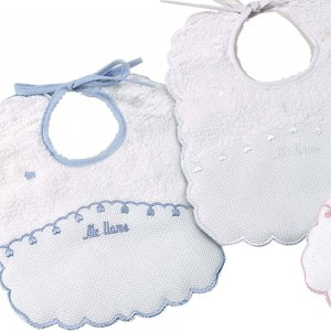 Babero para bordar Pack 2 Unid.  Accesorios bebé - La Cesta Mágica