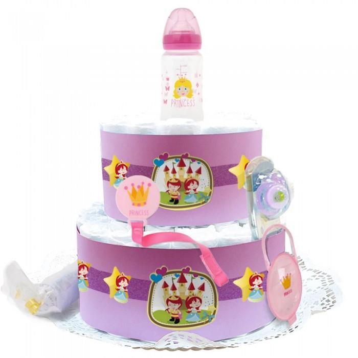 Tarta de Pañales Princesa  Tartas de Pañales - La Cesta Mágica