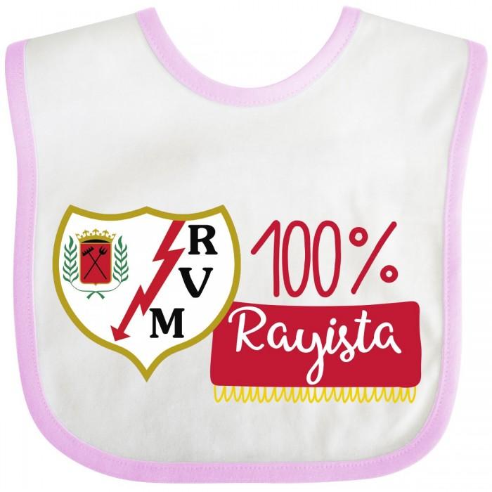 Babero Rayo Vallecano para bebé - rosa  baberos - La Cesta Mágica