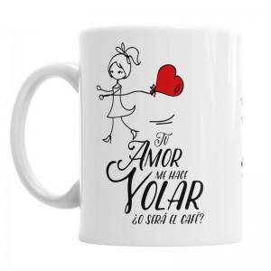 Tazas Tu Amor me hace Volar - Pack chica-chica  Tazas Originales - La Cesta Mágica