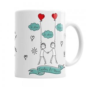 Taza para El Tu Amor me hace Volar  Tazas Originales - La Cesta Mágica
