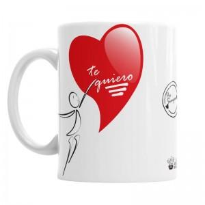 Taza amor contigo para Él  Tazas Originales - La Cesta Mágica