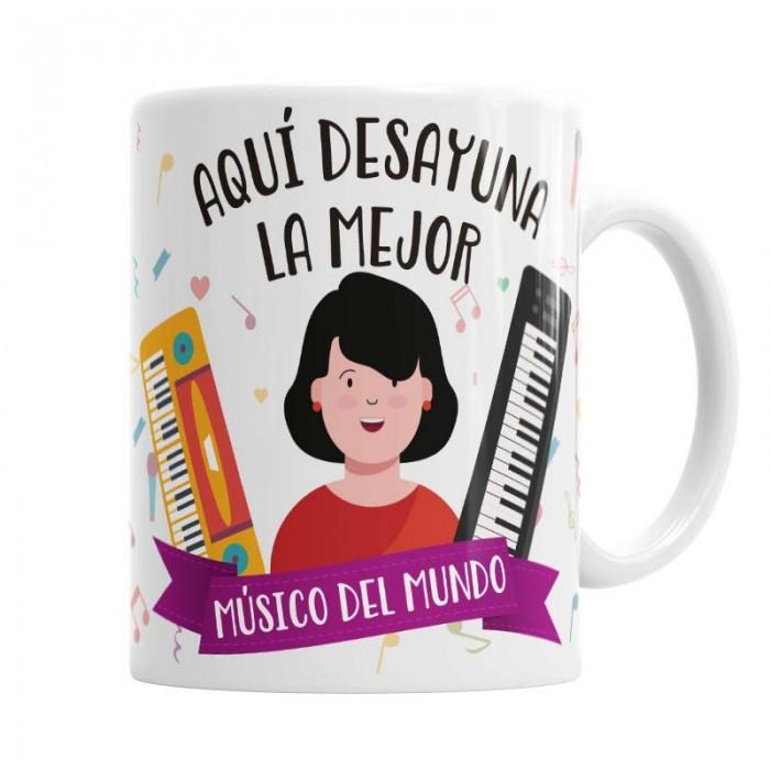 Taza Músico para ella  Tazas - La Cesta Mágica