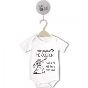 Body original para Bebé, mis papás me quieren  bodys - La Cesta Mágica