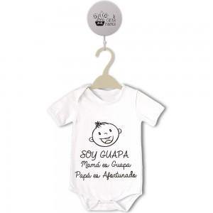Body original para Bebé, Soy Guapa  Bodys Originales - La Cesta Mágica