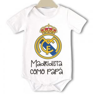 Body original para Bebé, Real Madrid  Bodys Originales - La Cesta Mágica