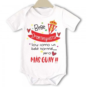 Body original para Bebé, Sporting de Gijón  Bodys Originales - La Cesta Mágica