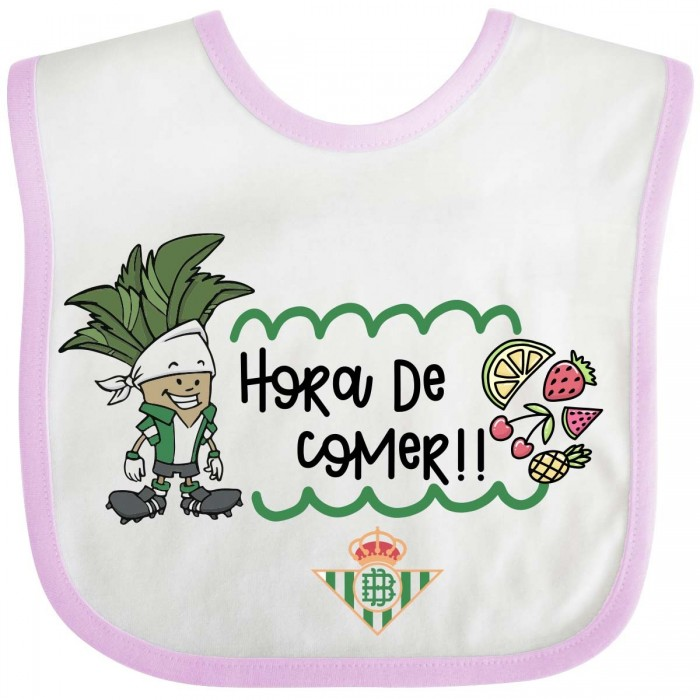 Babero Real Betis Balompié - Rosa  Accesorios bebé - La Cesta Mágica