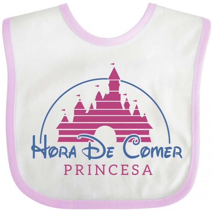 Babero Hora de comer Princesa - Rosa  baberos - La Cesta Mágica