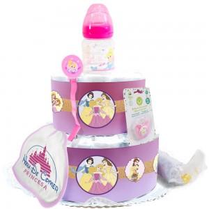 Tarta de Pañales Princesa Disney  Tartas de Pañales - La Cesta Mágica