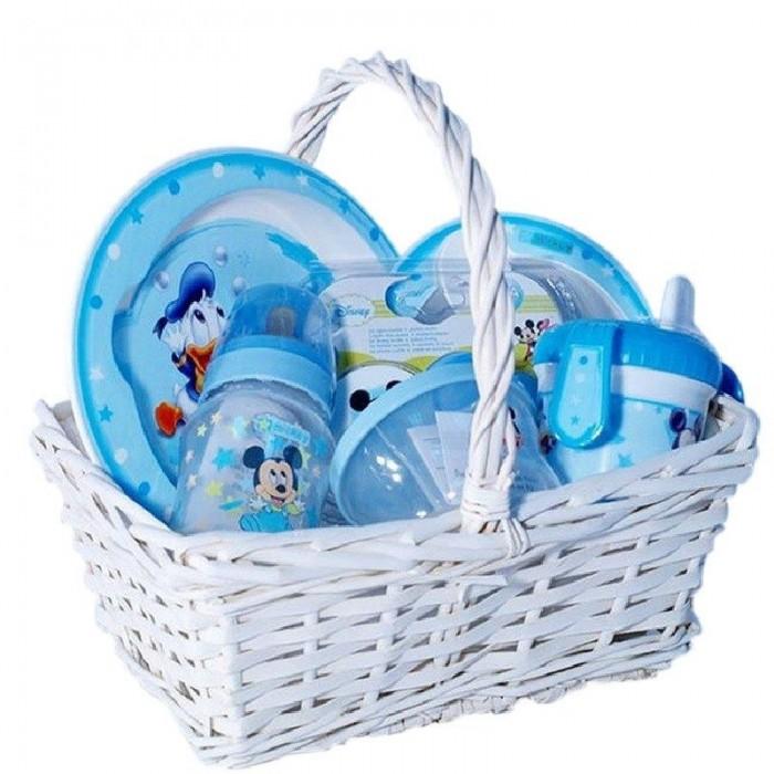 Cesta Bebé a Comer con Mickey  Canastillas para bebes - La Cesta Mágica